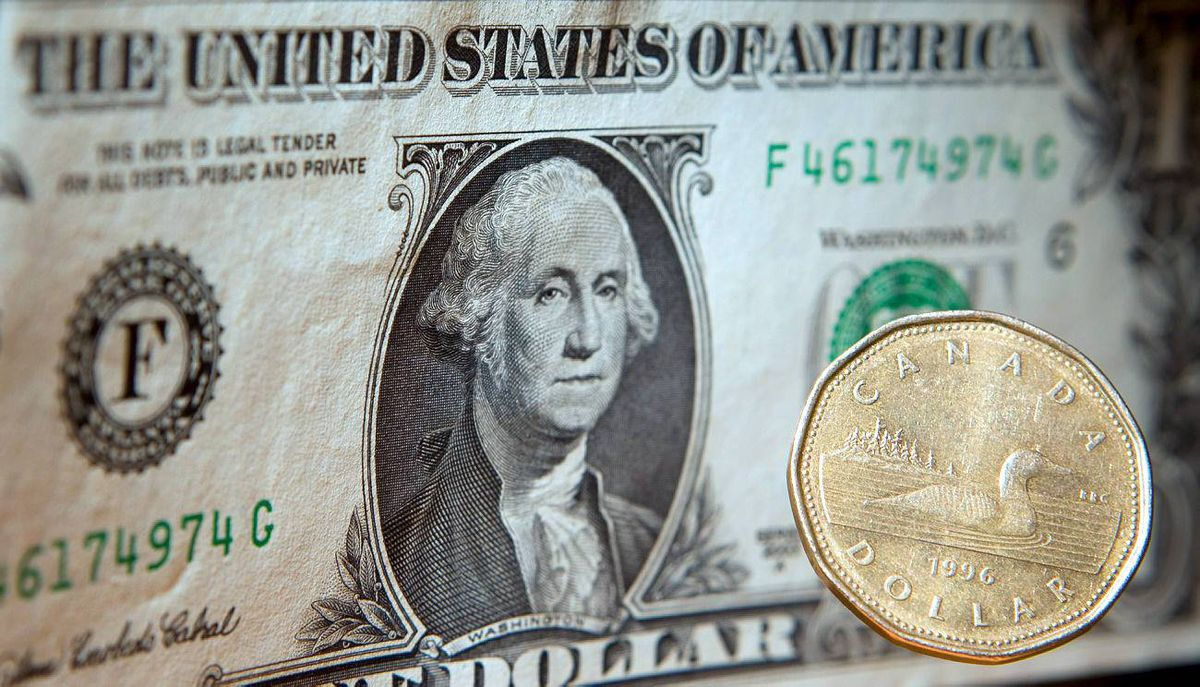 Loonie and U.S. dollar
