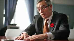 Industry Tony Clement gives an interview at his Parliament Hill office on Nov. 5, 2010.
