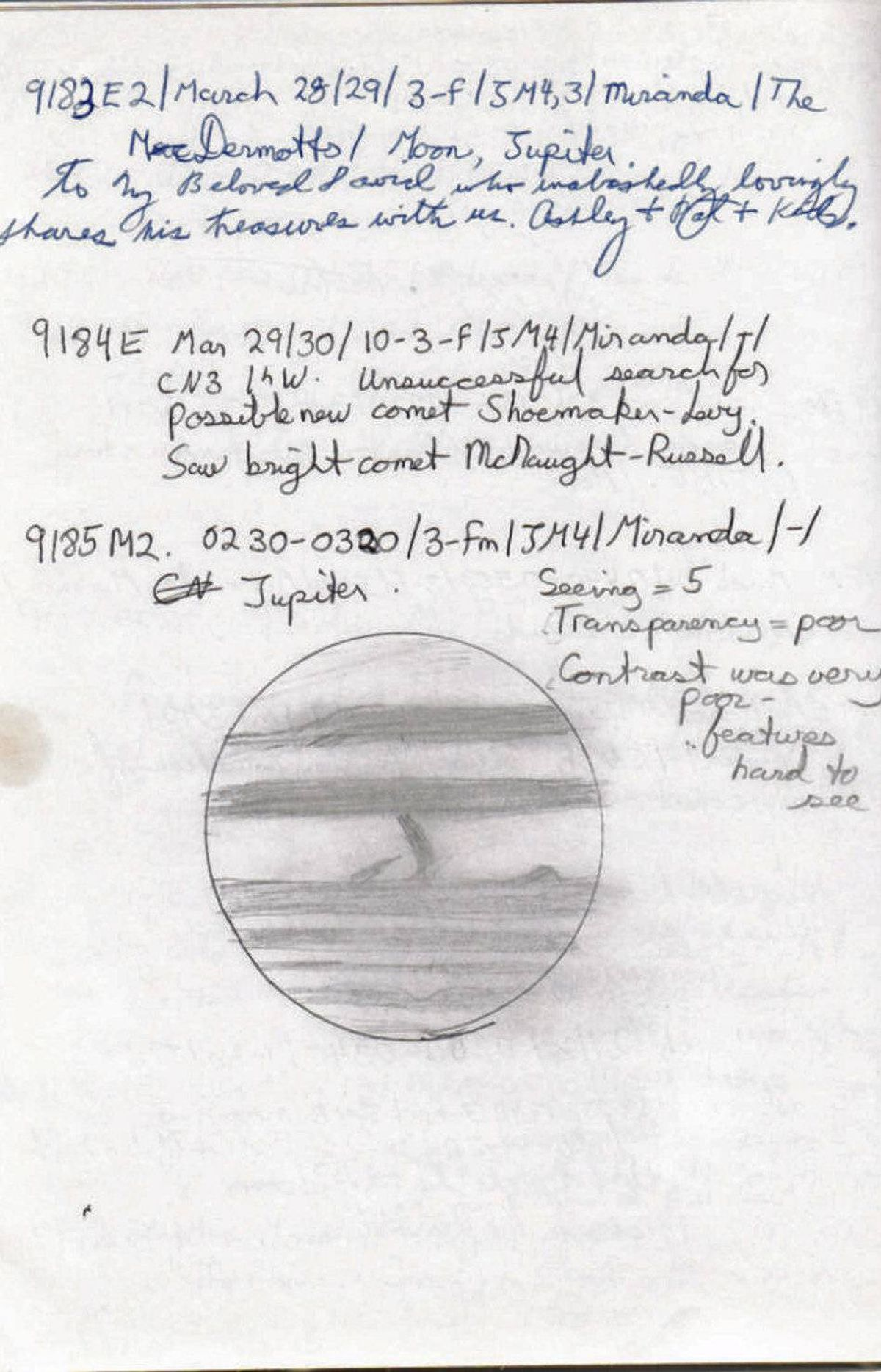 1995-96 observing notes
