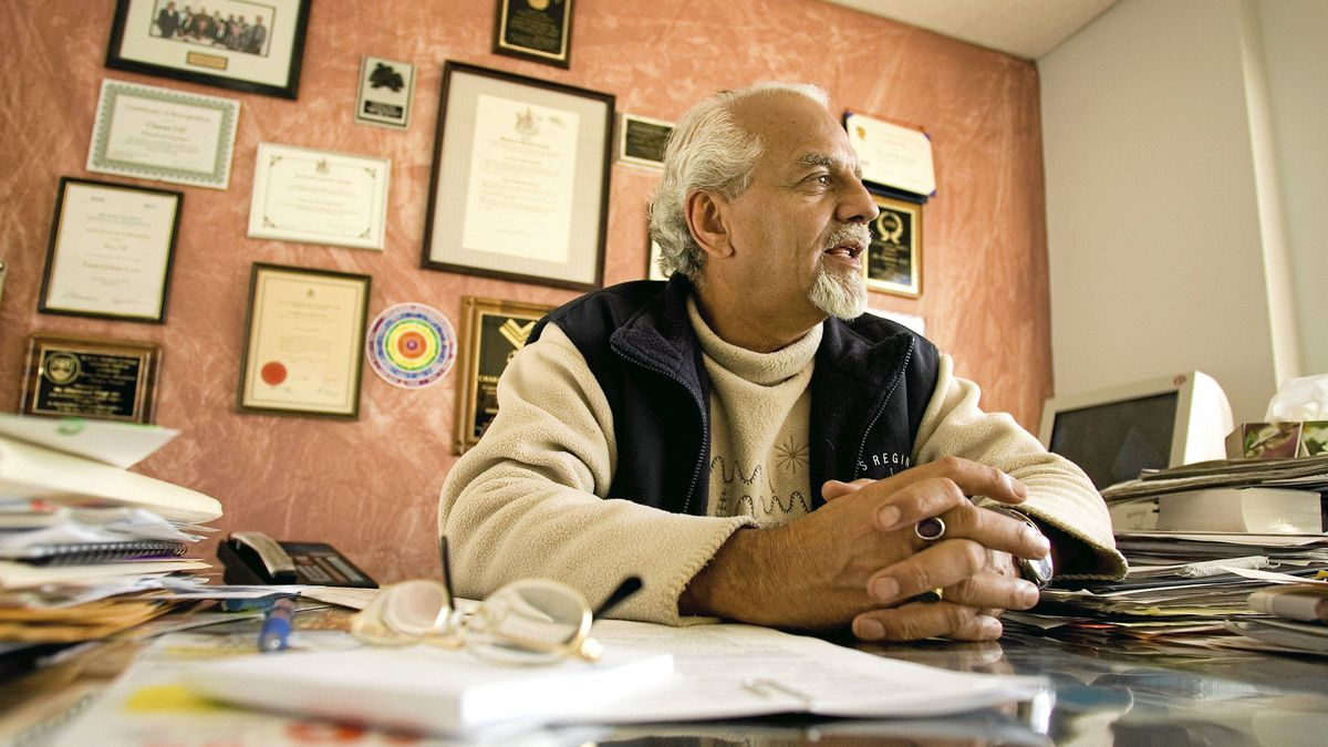 Charan Gill, who is executive director of Progressive Intercultural Community Services Society, seen here at his office in Surrey, B.C., in 2006.