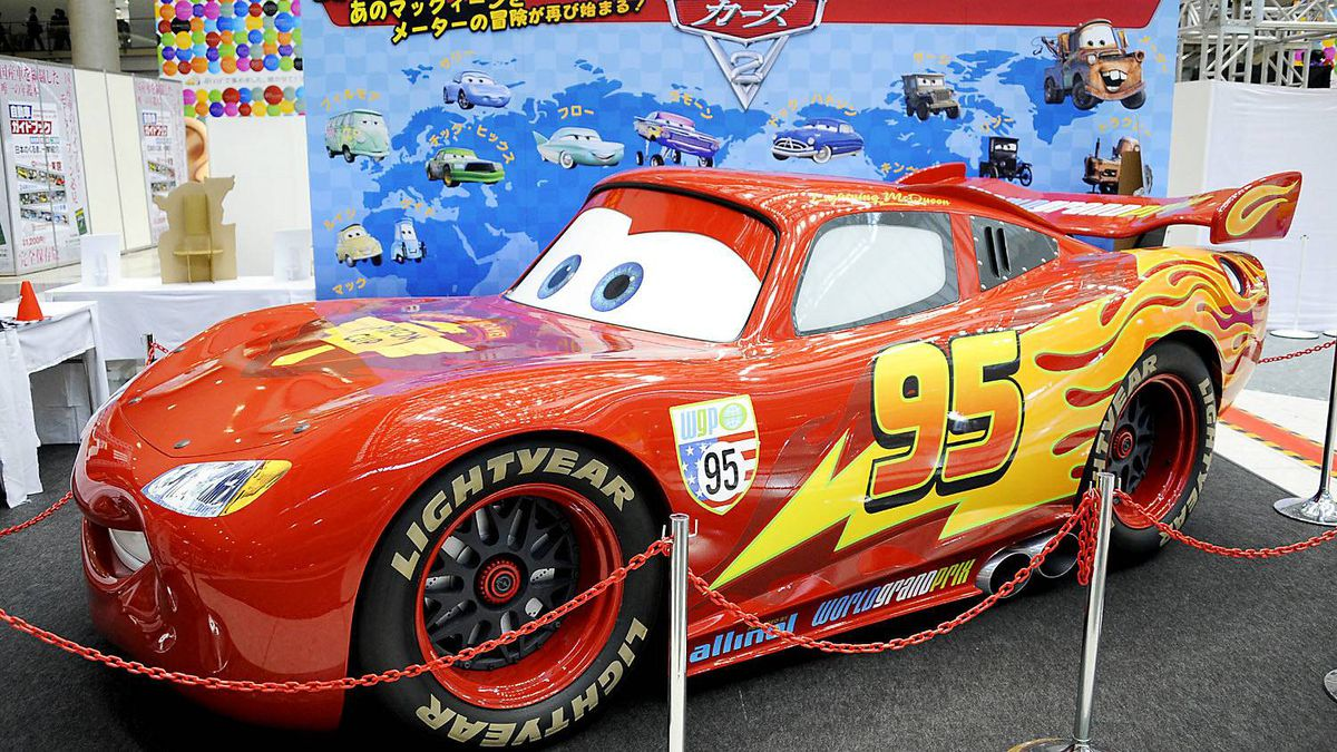 The life-size model of the Cars 2 charactor, McQueen, is on display at the 42nd Tokyo Motor show in Tokyo on November 30, 2011.