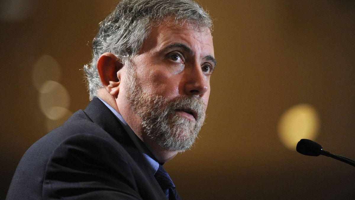 Nobel winning economist Dr. Paul Krugman during his speech at the Economic Club of Canada on June, 29 2011, in Toronto. A Professor of Economics and International Affairs Woodrow Wilson School at Princeton University, Krugman is also an Op-Ed columnist for the New York Times.