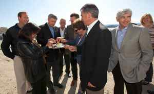 """This photo was taken and distributed by the Prime Minister's Office on Aug.18 to publicize its announcement that Mr. Harper and cabinet ministers ate seal meat during an Arctic trip. No reporters or newsphotographers were allowed to witness the event. """"The Prime Minister said, 'I really enjoyed eating seal meat and look forward to having it again,' """" an e-mail from a PMO spokesman informed reporters."""