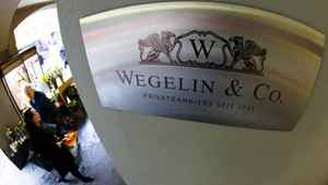 The logo of the Swiss bank Wegelin. The U.S. Justice Department indicted the bank, Switzerland's oldest, on Feb. 2, 2012, for allegedly enabling U.S. citizens to evade taxes through secret offshore bank accounts.