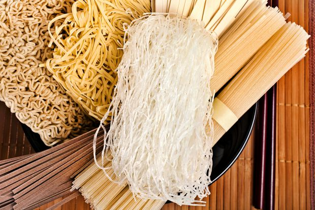 What are the different kinds of Asian noodles?