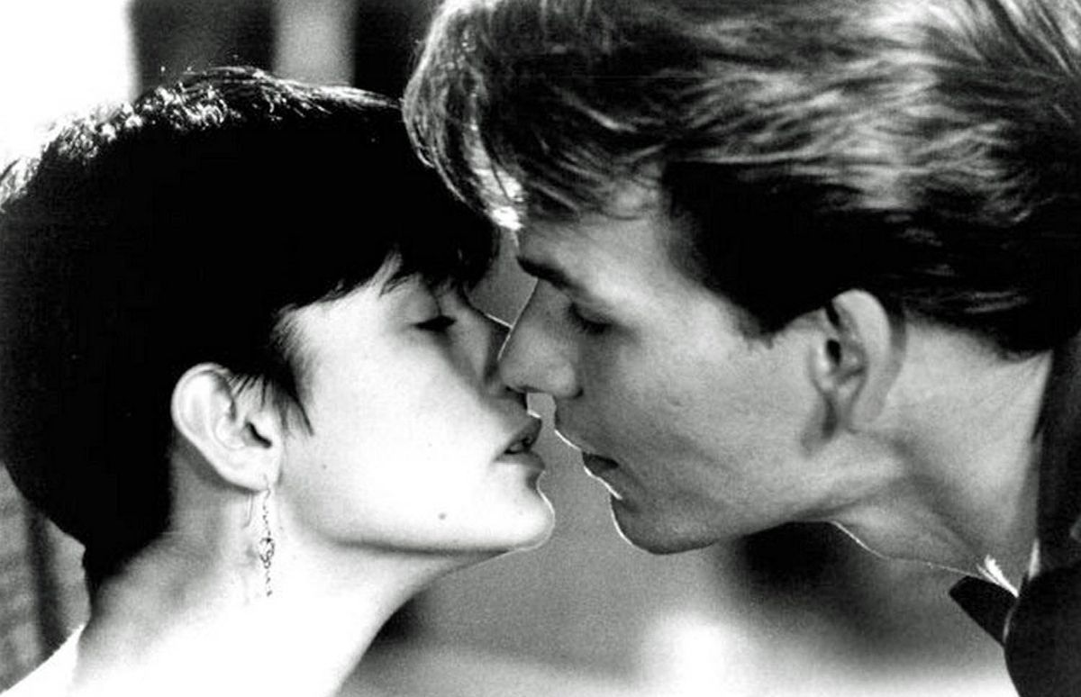 Demi Moore and Patrick Swayze in Ghost (1990).