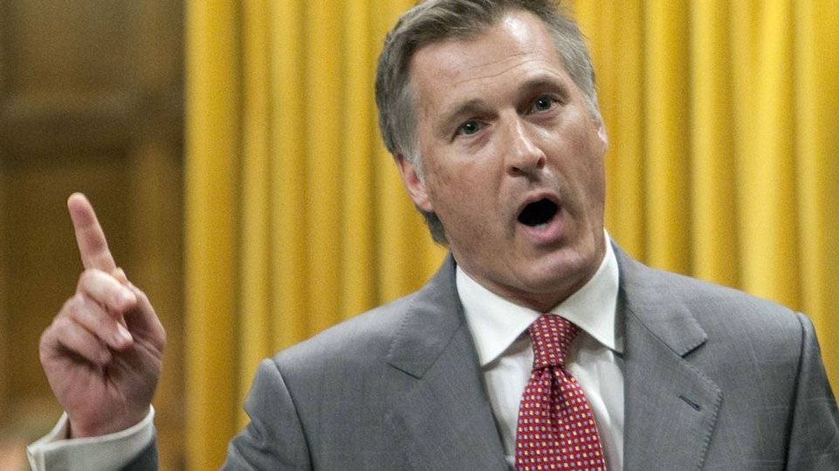 Conservative MP Maxime Bernier speaks during Question Period in the House of Commons on April 13, 2010.