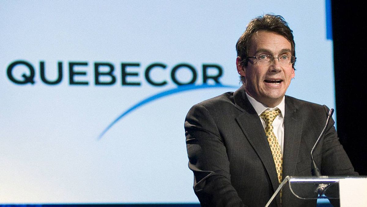 File photo of Quebecor president and CEO Pierre Karl Péladeau.