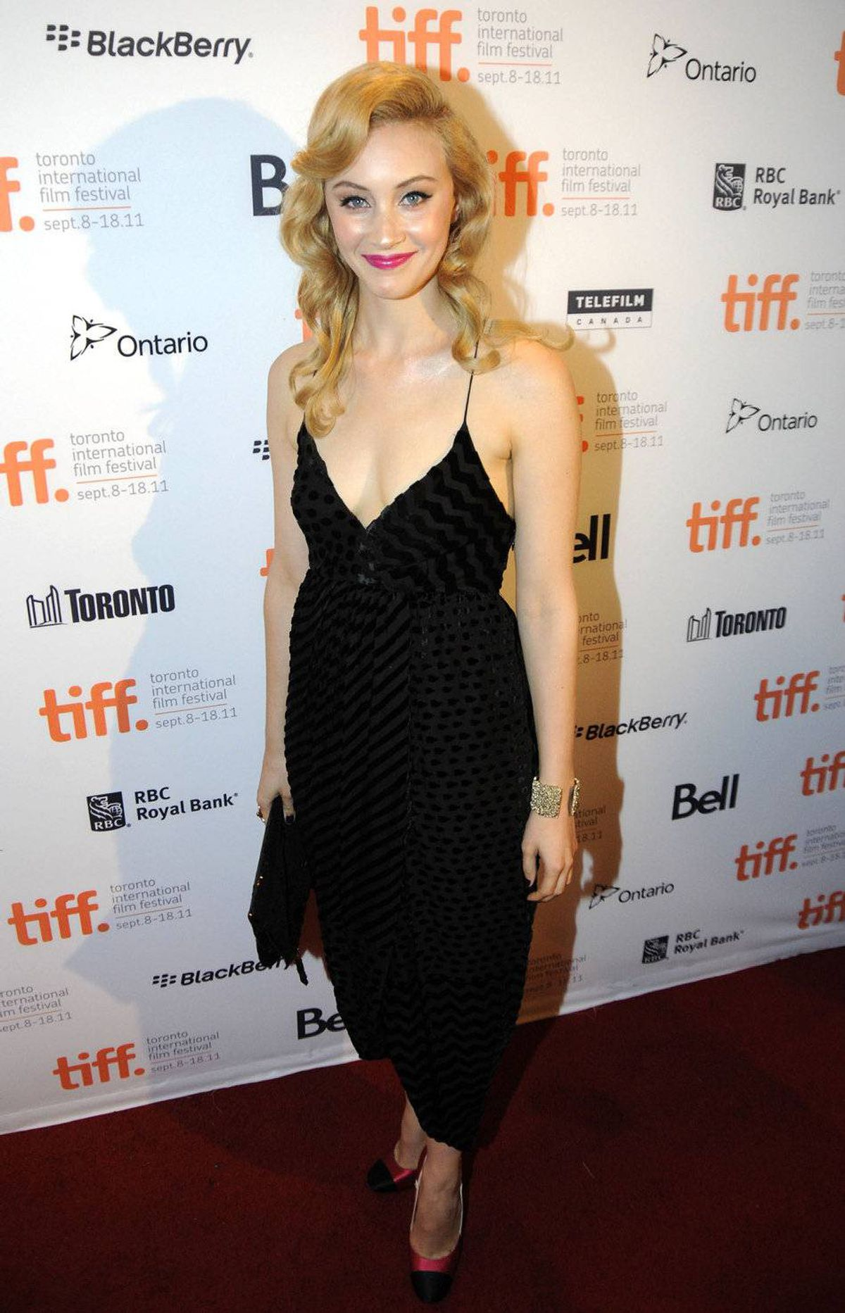 Actress Sarah Gadon arrives TIFF Rising Stars Party held at The Drake Hotel during the 2011 Toronto International Film Festival on September 11, 2011 in Toronto, Canada.