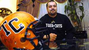 Marwan Hage, offensive lineman for the Hamilton Tiger-Cats.