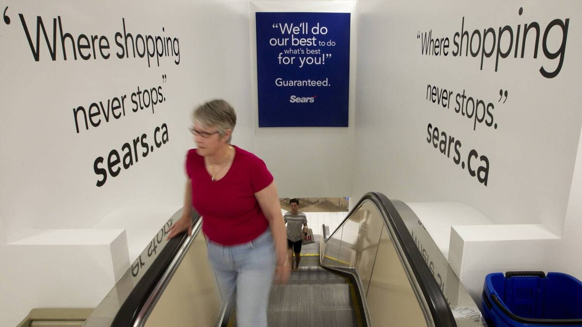 A new slogan on the walls at the Sears store at Upper Canada Mall is part of the redesign.