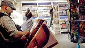 Customers browse at a Chapters/Indigo store.