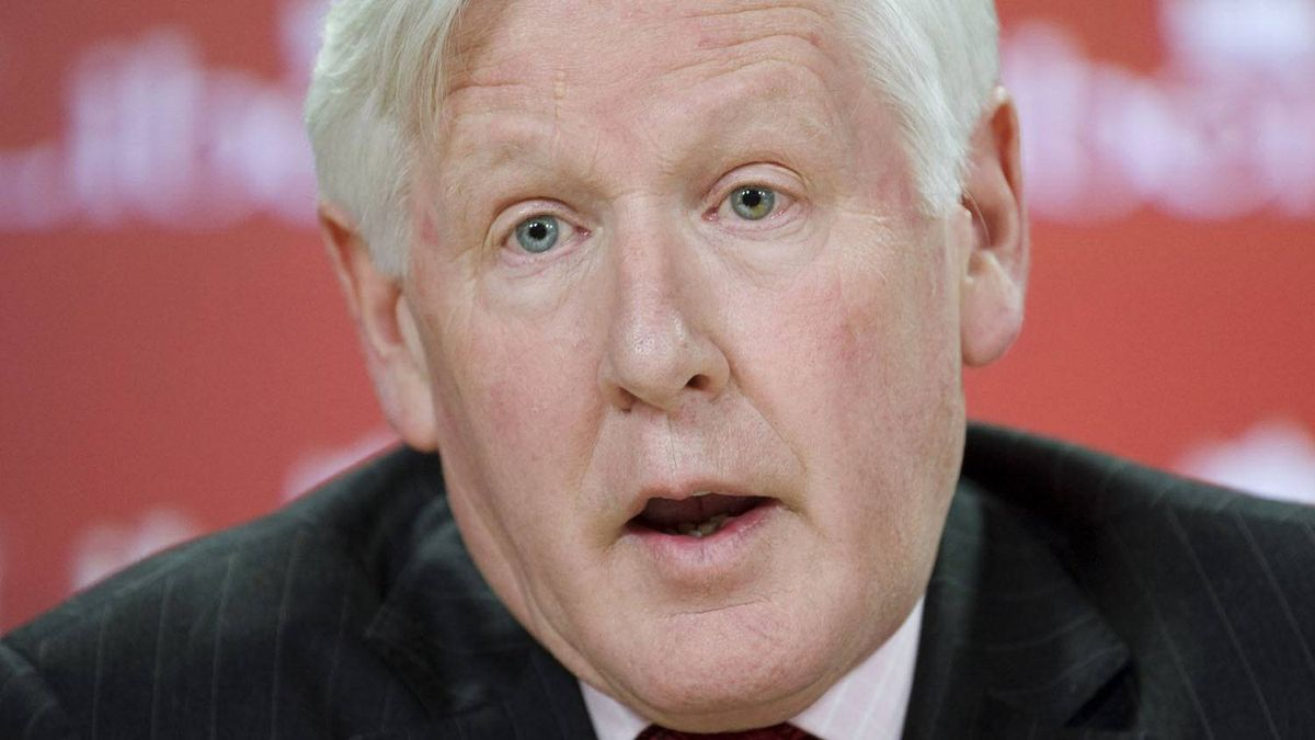 Liberal candidate Bob Rae speaks at a news conference in Ottawa, Tuesday April 19, 2011.