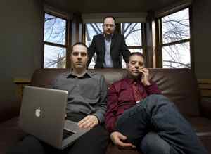 Nart Villeneuve, Greg Walton and Ronald J. Deibert discovered the spying operation dubbed GhostNet. They are seen at the Munk Centre on March 29 2009.