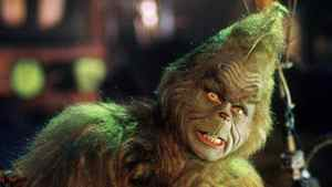 Jim Carrey, dressed as the Dr. Seuss storybook character Mr. Grinch, appears in a scene from the movie adaptation of The Grinch Who Stole Christmas.