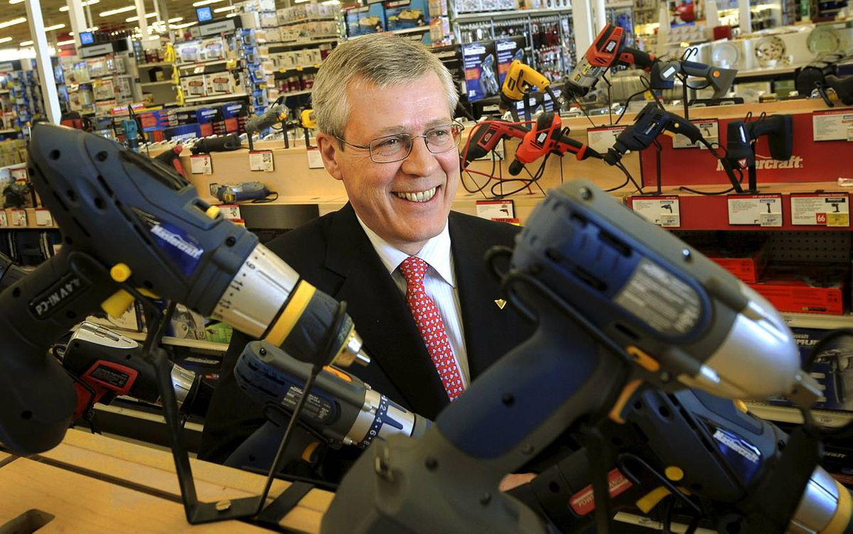 March 20, 2009 - CEO of Canadian Tire, Stephen Wetmore is photographed at the Leslie Street location in Toronto, Ont. March 20/2009. Photo by Kevin Van Paassen/The Globe and Mail March 20/2009