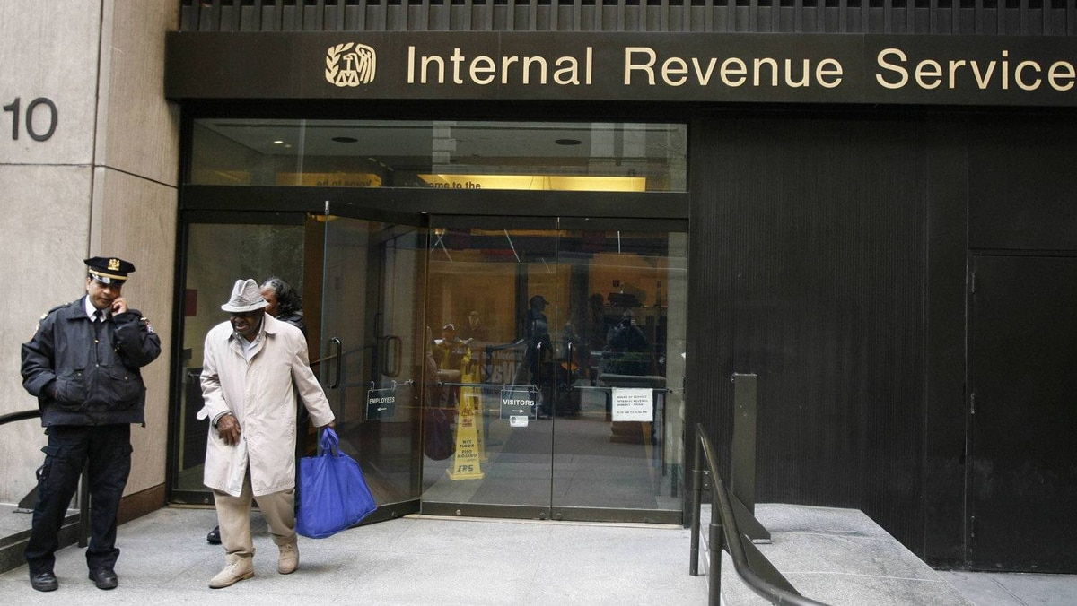 The Internal Revenue Service office in New York.