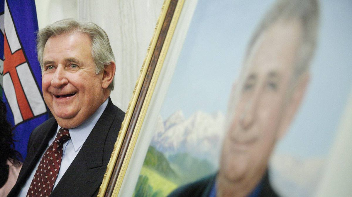 Former Alberta premier Ralph Klein, at the unveiling of his official portrait at the Alberta Legislature Rotunda in Edmonton, Alta. on Thursday, August 30, 2007.