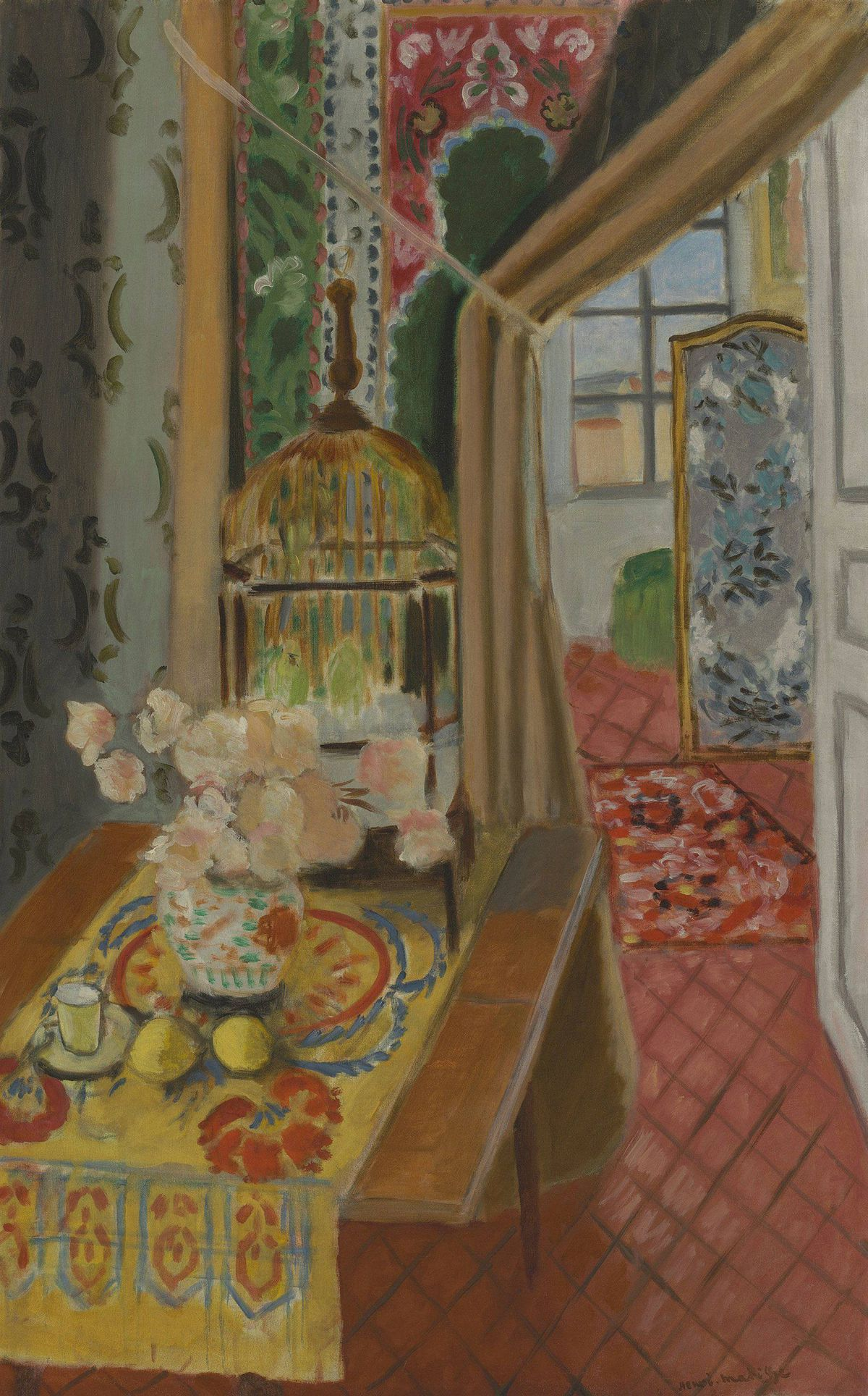 Henri Matisse, Interior, Flowers and Parakeets, 1924, oil on canvas, The Baltimore Museum of Art: The Cone Collection, formed by Dr. Claribel Cone and Miss Etta Cone of Baltimore, Maryland, BMA