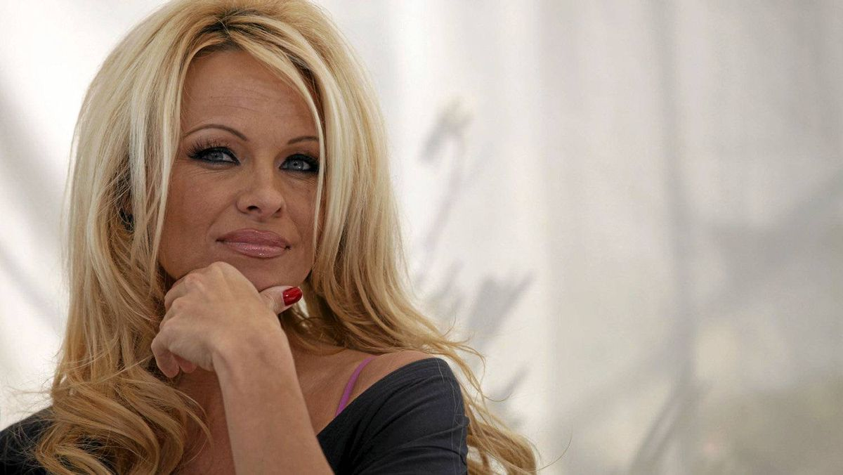 Actress Pamela Anderson in West Hollywood, California March 22, 2012.