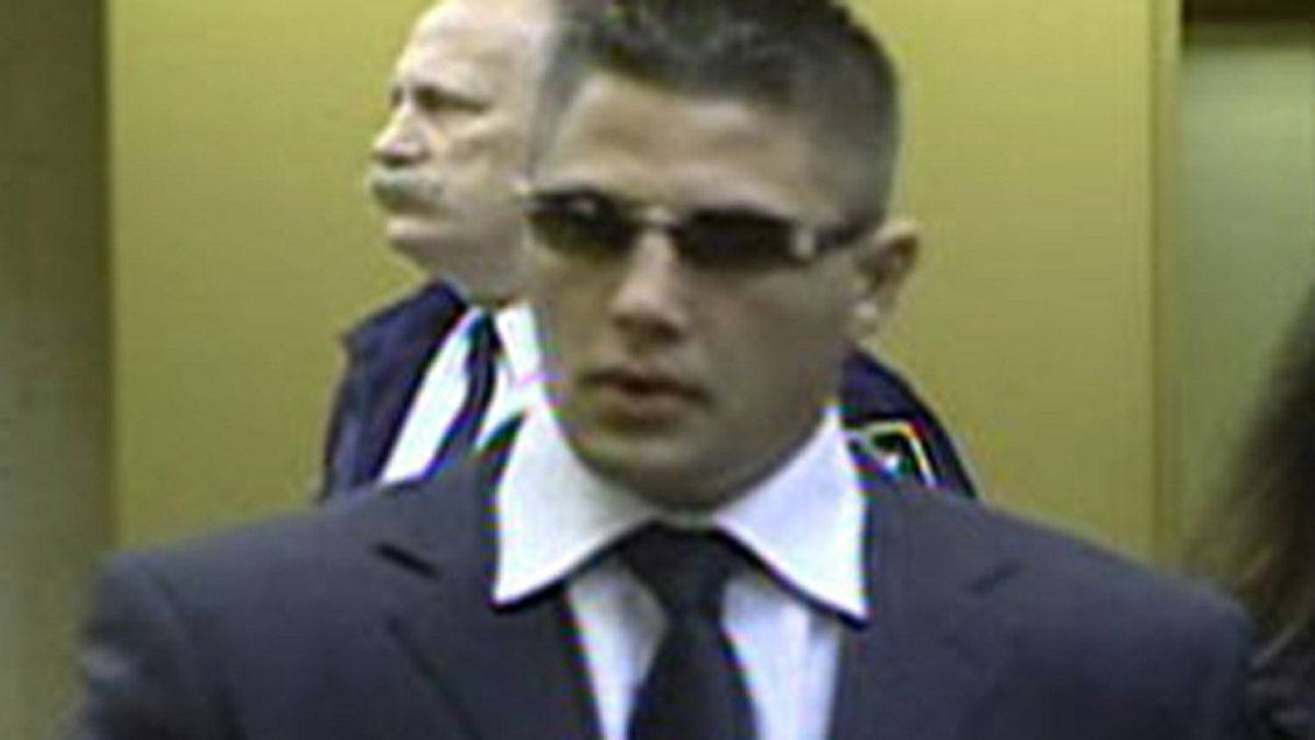 Jarrod Bacon shows up in a Surrey provincial court on April 7, 2009.