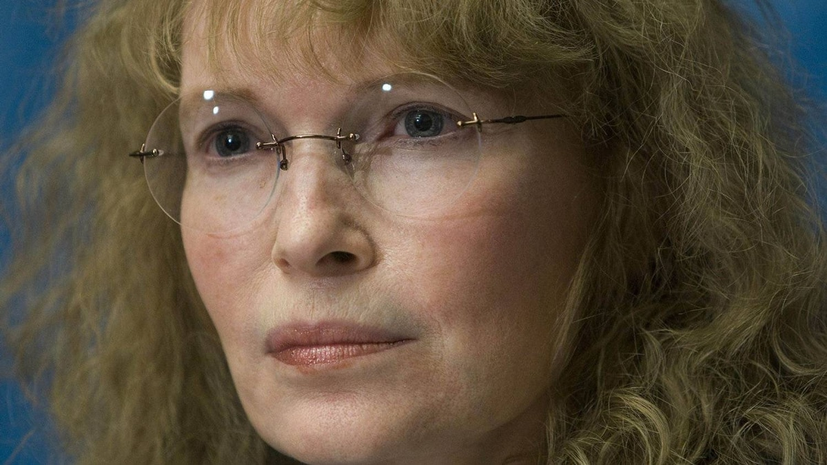 US actress Mia Farrow