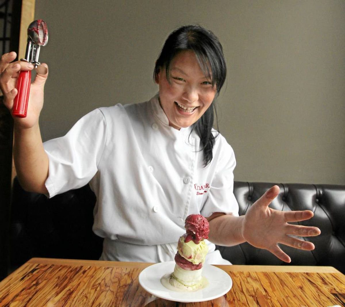 Eleanor Chow of Chambar in Vancouver has experimented with a caramelized onion ice cream.