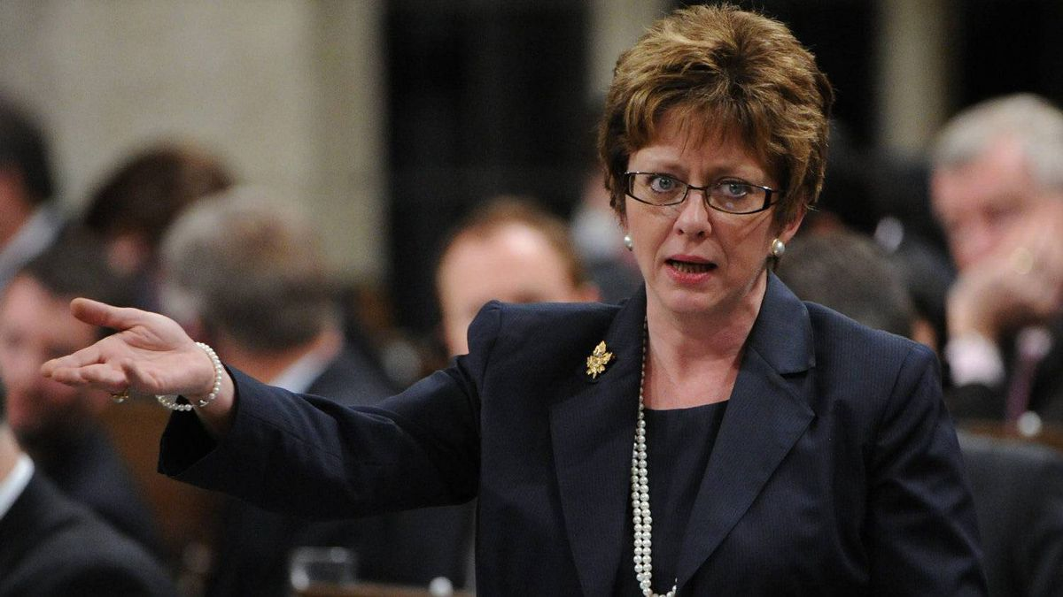 Diane Finley, Minister of Human Resources, in the House of Commons on Feb. 16. Yesterday in Toronto, Ms. Finley warned that young Canadians will be burdened with a future of sky-high taxes and big debt unless Ottawa acts now to reduce the long-term costs of government programs, including Old Age Security.