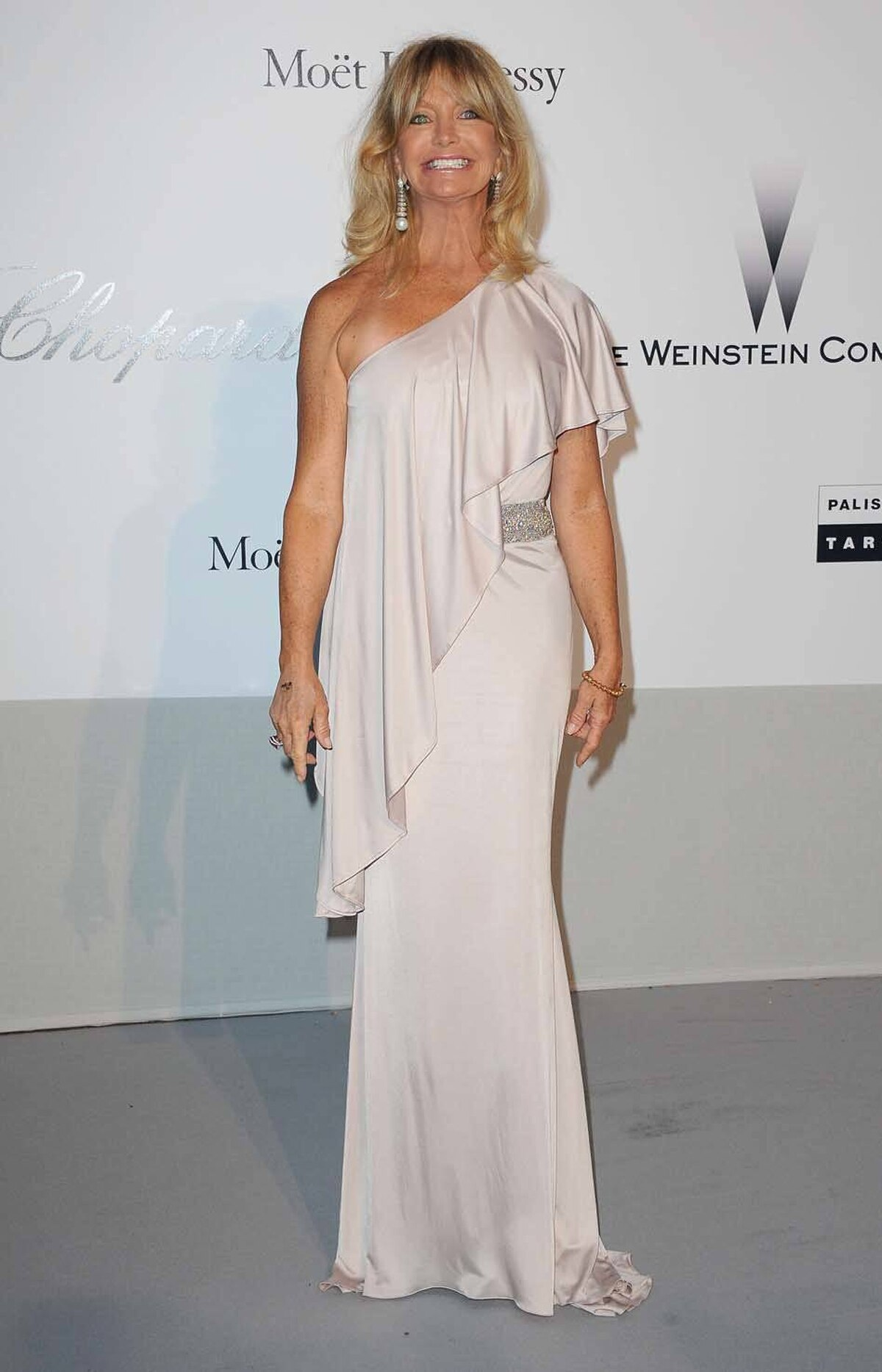 Goldie Hawn attends amfAR's Cinema Against AIDS Gala at the Cannes Film Festival on Thursday.