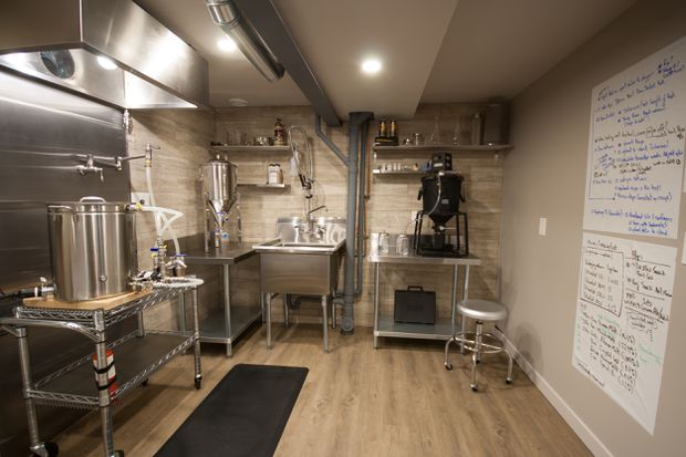 in a suburban ottawa basement a state of the art brew room the