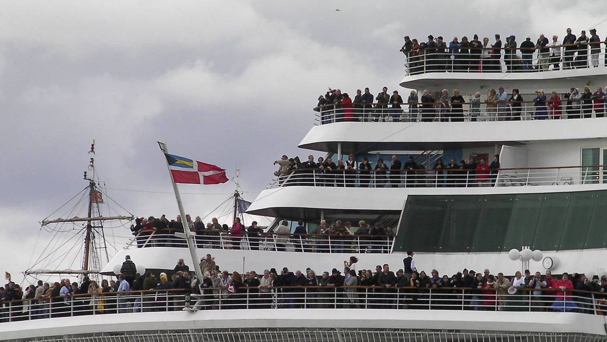 Titanic Memorial Cruise leaves port in Southampton, England April 8, 2012. The cruise retraces the voyage of the ill-fated Titanic liner, which hit an iceberg and sank 100 years ago on April 15, 1912.