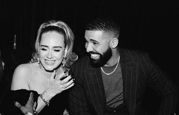 Drake mingles with Adele at mob-themed 33rd birthday party