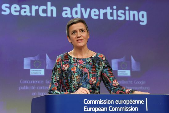 Google fined $1.7-billion by EU for blocking rival advertising