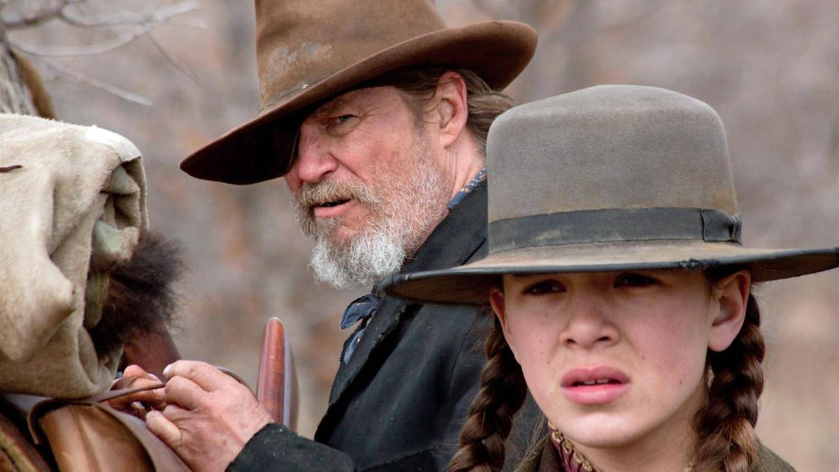 Jeff Bridges and Hailee Steinfeld in the Coen brothers' remake of True Grit.