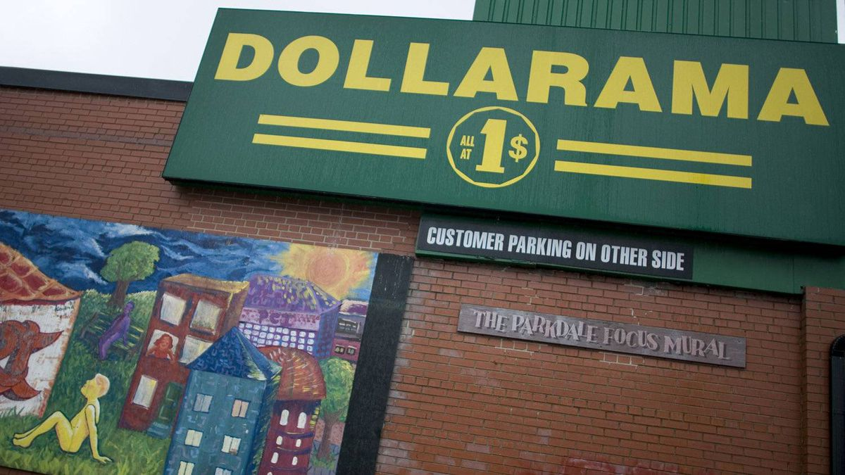 Dollarama in the Parkdale area of Toronto.