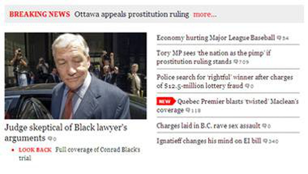 The top stories on our new home page.