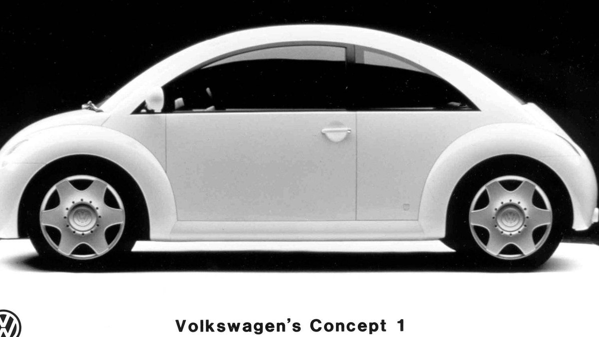 Next-generation VW Beetle concept, shown at the Detroit auto show in 1994.