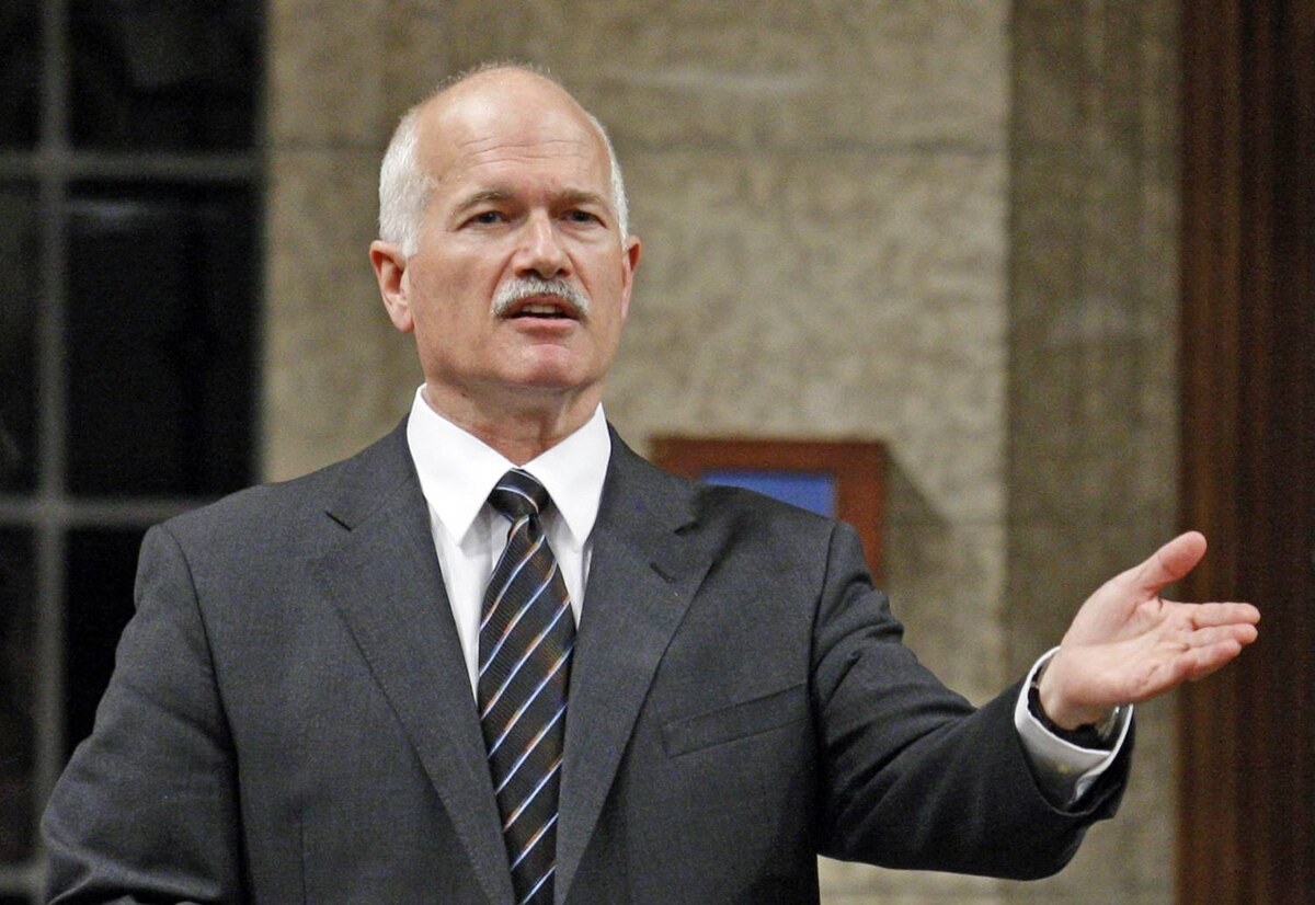 New Democratic Party Leader Jack Layton speaks during Question Period in the House of Commons on Monday, October 26, 2009.