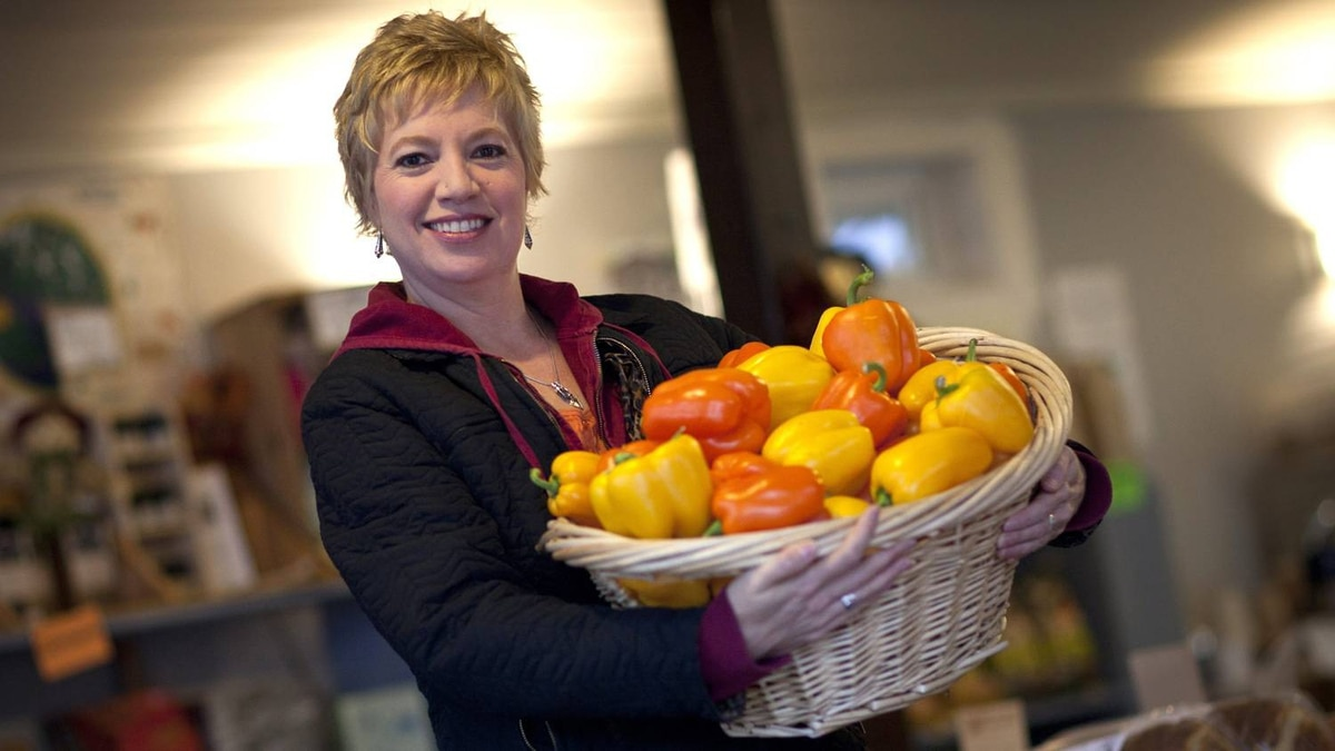 Liz Gaige, the Vancouver resident behind the website LocalDelicious.com, buys non-medicated meat and organic produce.