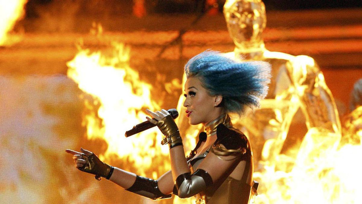 Katy Perry performs.