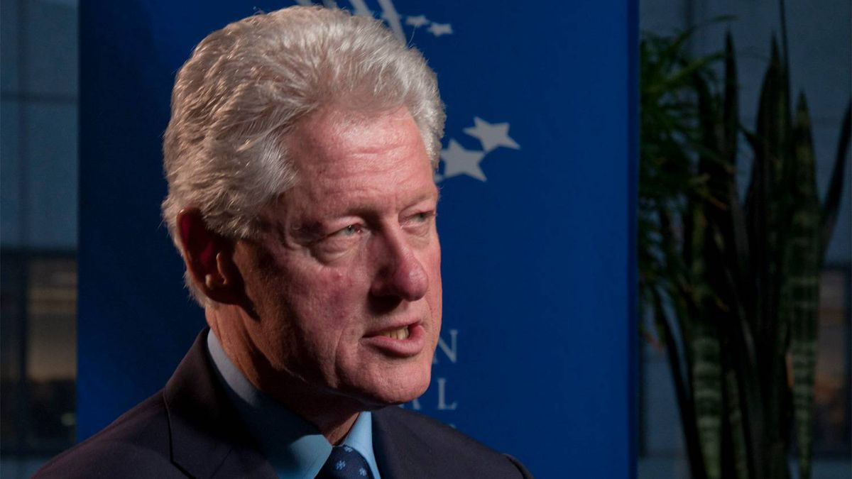 Bill Clinton speaks during an interview with the Globe's Doug Saunders on Thurs. Oct. 27, 2011 in New York.