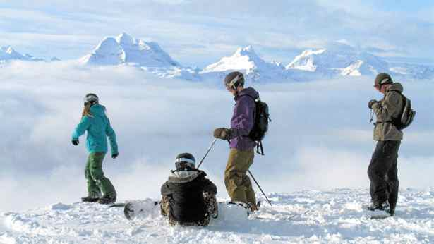 Getting ready to take off from the summit of Revelstoke Mountain.