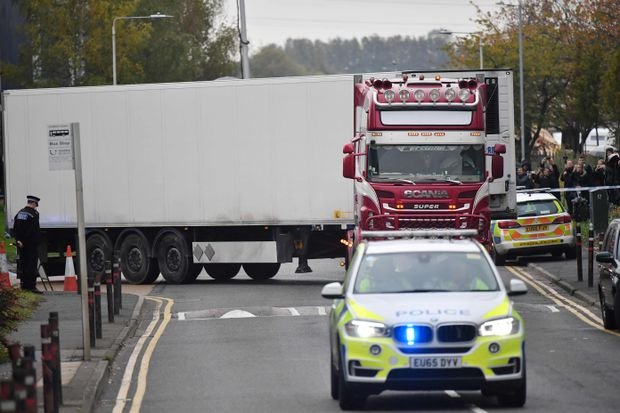 All 39 victims found dead in UK truck confirmed as Vietnamese
