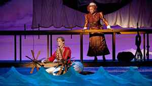 Kyle Blaire as Frederic and Gabrielle Jones as Ruth in The Pirates of Penzance.