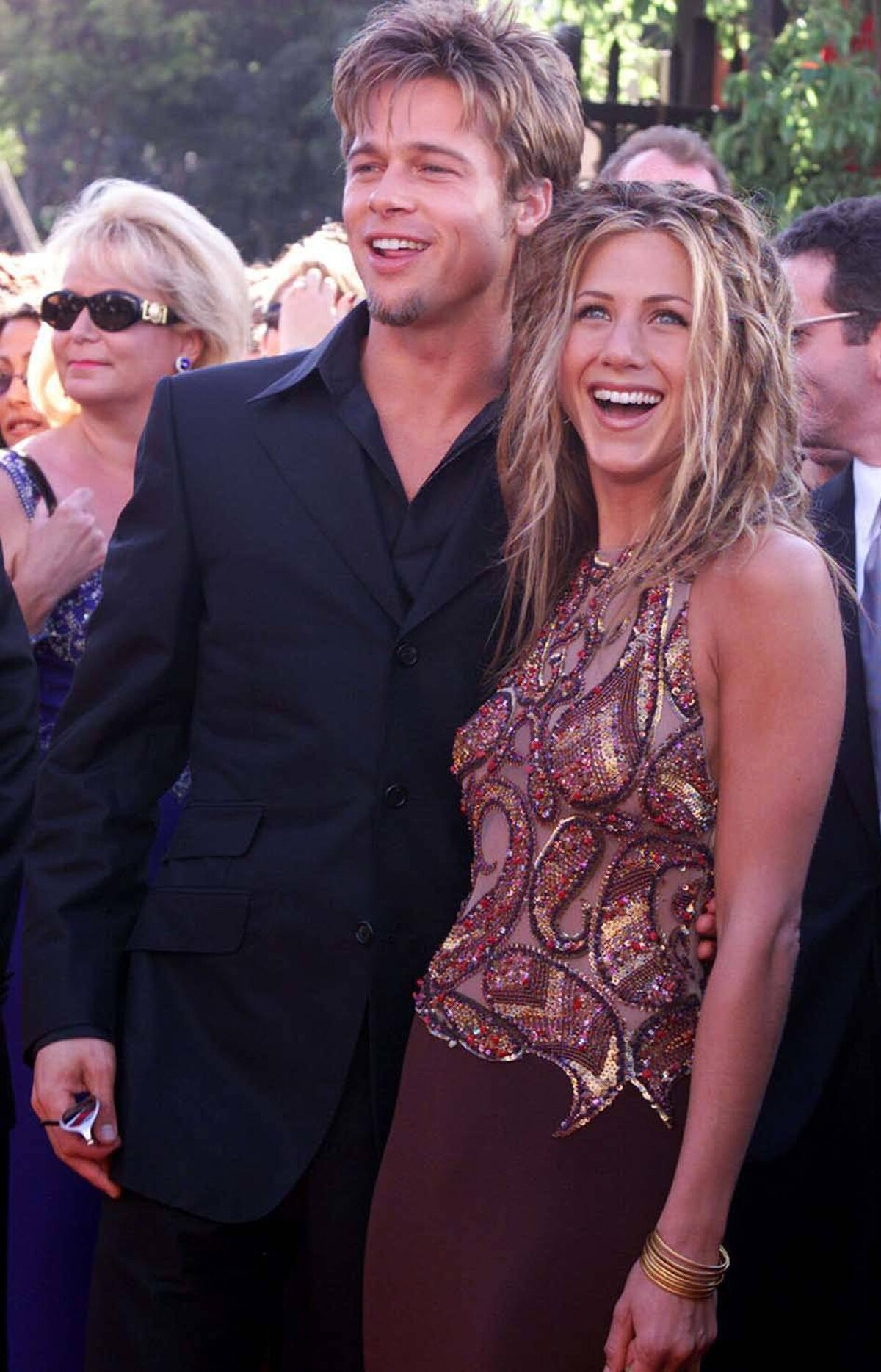No, you're right: You do look very happy together at the 1999 Emmy Awards in Los Angeles. Yes, you were together for a long time. Yes, we get it. Thank you.