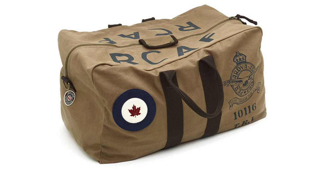 High style indeed: A portion of sales of Red Canoe's RCAF kit bag is funnelled to the Air Force Association of Canada, an advocacy group that helps unite veterans. $149.99 at Chapters and Indigo stores across Canada.
