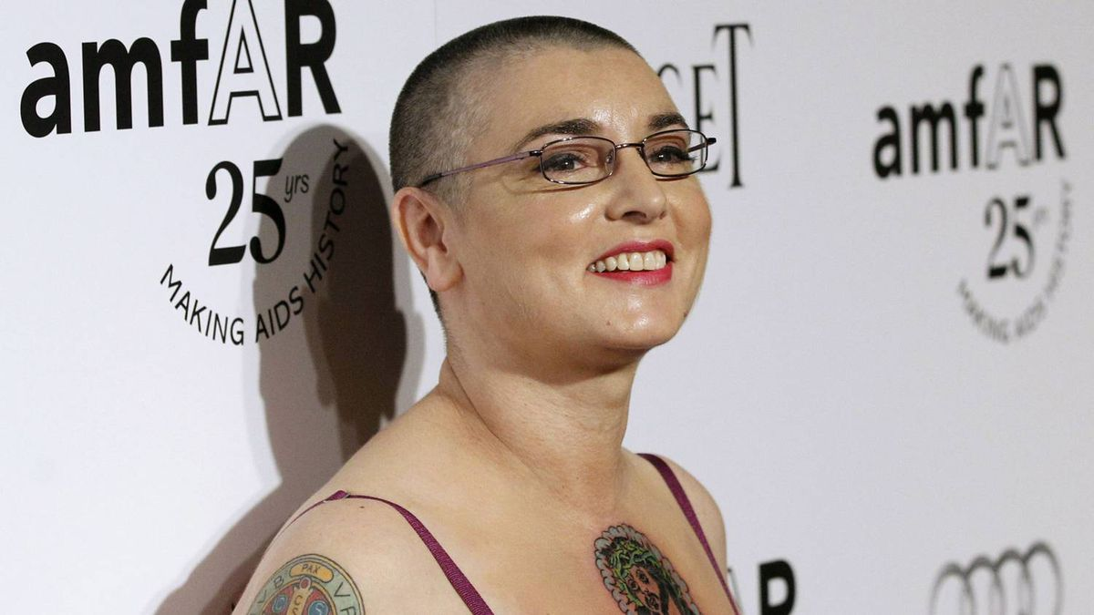 Irish singer and songwriter Sinead O'Connor