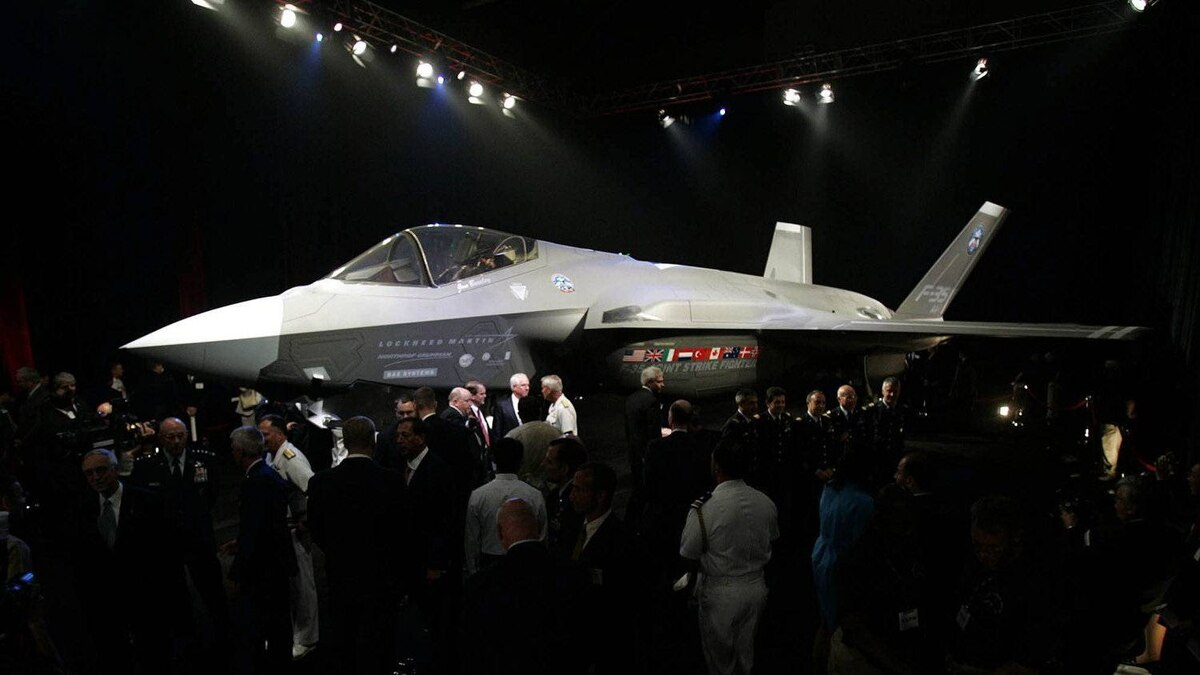 The Lockheed Martin Joint Strike Fighter is shown after it was unveiled in a ceremony in Fort Worth, Texas, in this July 7, 2006, file photo. The Harper government announced one of the biggest military equipment purchases in history on Friday July 16, 2010, to buy the F-35 Joint Strike Fighter from Lockheed Martin.