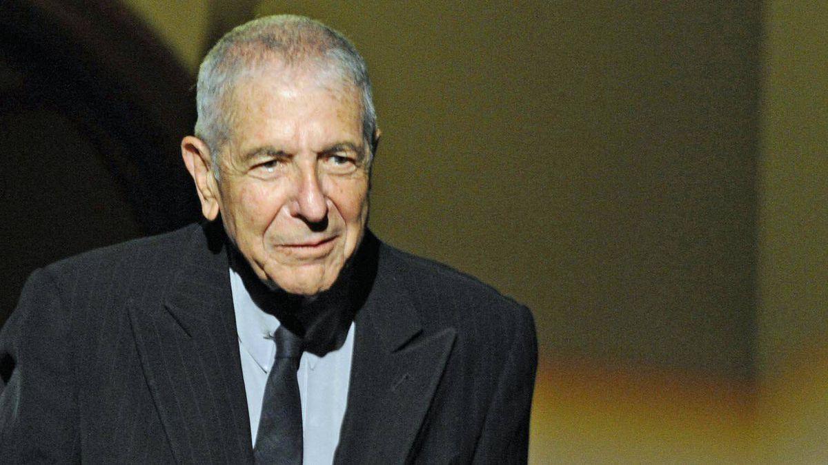 Leonard Cohen attends a tribute in Gijon, Spain, October 19, 2011.