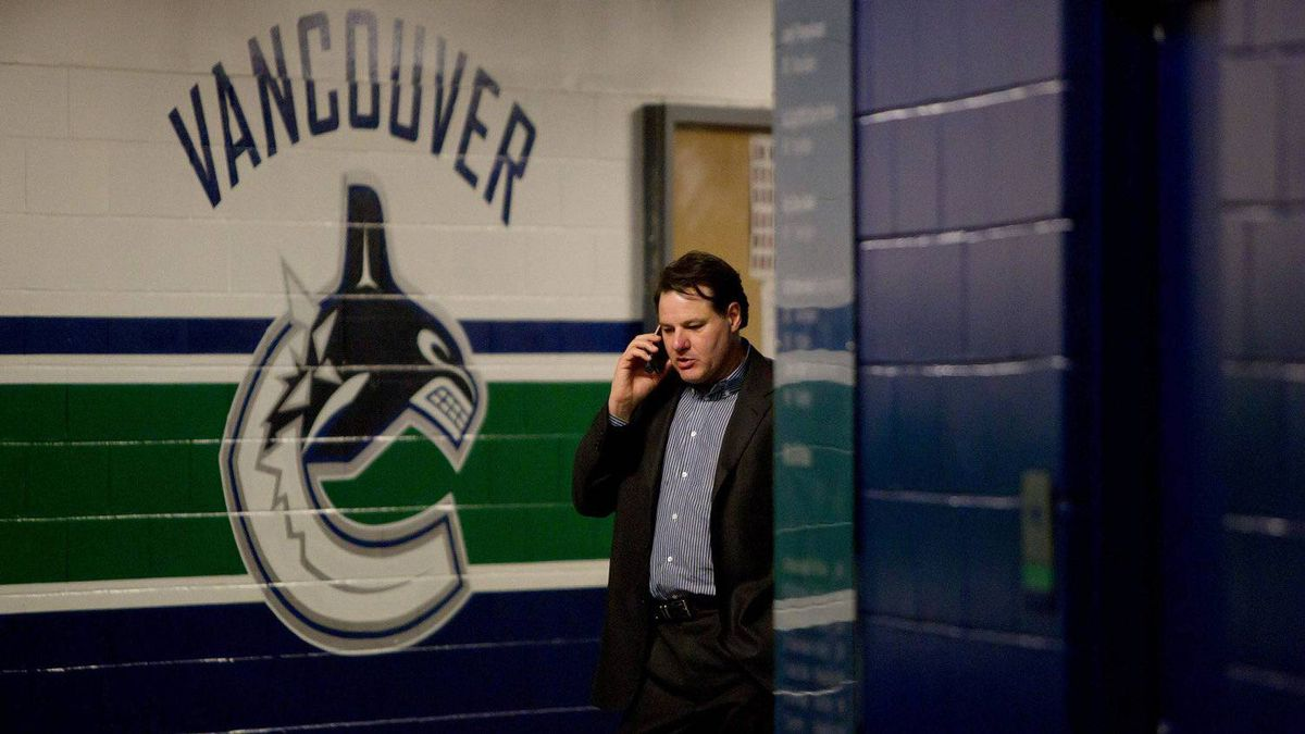 Vancouver Canucks' co-owner Francesco Aquilini ahead of last year's seventh game of the Stanley Cup final.